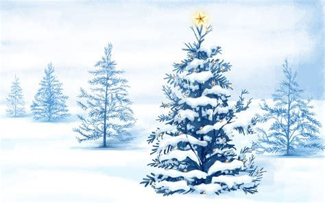christmas snow trees wallpapers hd wallpapers id