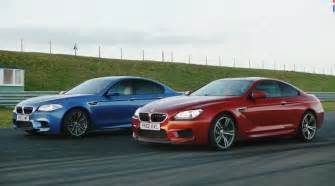 car and driver bmw m5 f10 vs bmw m6 coupe at anglesey circuit bmw post