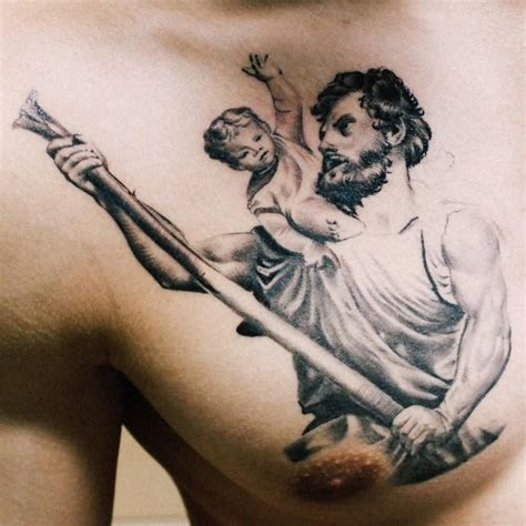 saint christopher tattoo 29 religious christopher tattoos