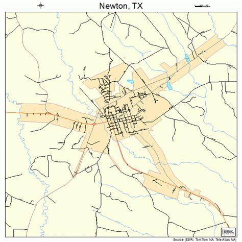 newton texas map newton texas map 4851372