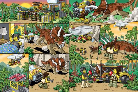 Lego Dinosaurus Merk Wange wang comic creator illustrator lego illustrations