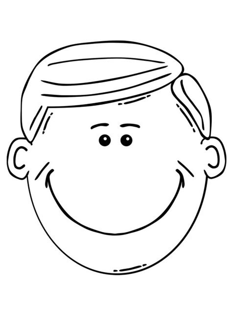 boy head coloring page printable drawings and coloring pages boy head coloring page