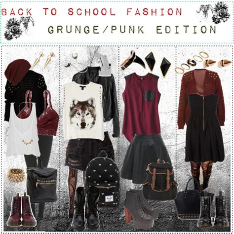 Back To School Fashion Flout by Grunge Edgy On The Hunt