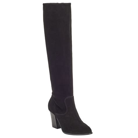 suede high boots lewis sheena suede knee high boots in black lyst