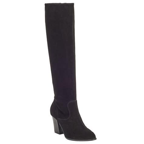 john lewis sheena long suede knee high boots  black lyst