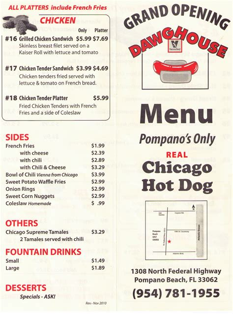 dawg house menu menu for dawg house 1308 n federal hwy