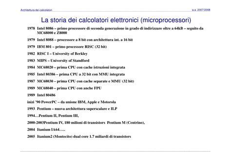 calcolatori elettronici dispense architettura dei calcolatori 12 storia