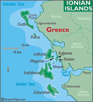 ionian sea map ionian islands map geography of ionian islands map of