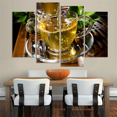 Large Kitchen Canvas by Canvas Kitchen Canvas Painting Large Wall Tea Poster
