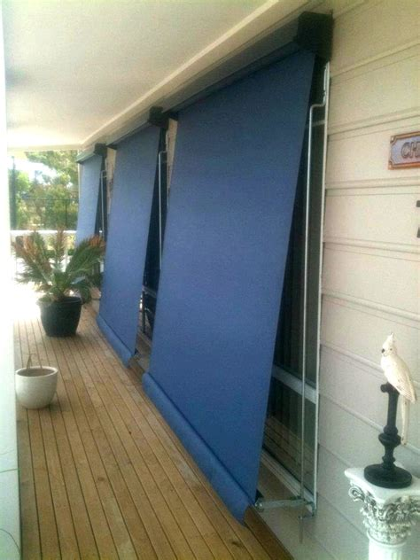 canvas awning blinds canvas or vistaweave channel awnings verandah blinds quotes