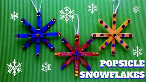 crafted ornaments craft popsicle stick snowflake popsicle