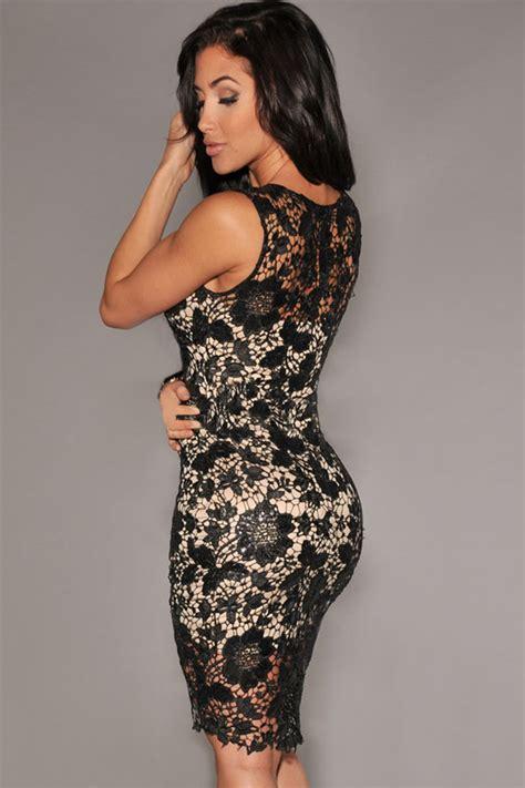 Lc21561 bodycon vestido de crochet negro ilusi 243 n desnuda 1