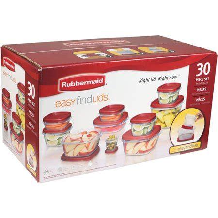 Walmart Kitchen Storage Containers by Rubbermaid 30 Piece Easy Find Lid Set Walmart
