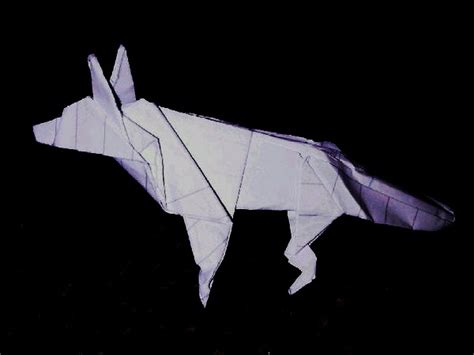 How To Make A Paper Wolf - origami wolf by vespertiliohowl on deviantart