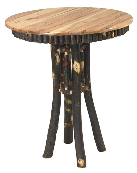 Rustic Bar Table Amish Noble Rustic Hickory Pub Table