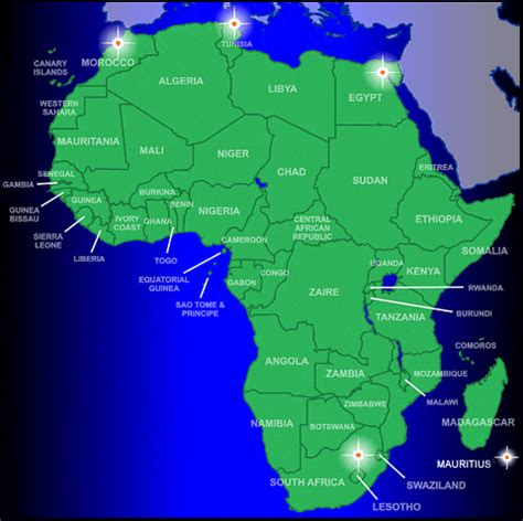 africa map 2000 back to service home page