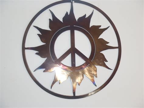 metal peace sign wall decor peace sign and sun metal wall decor by tibi291