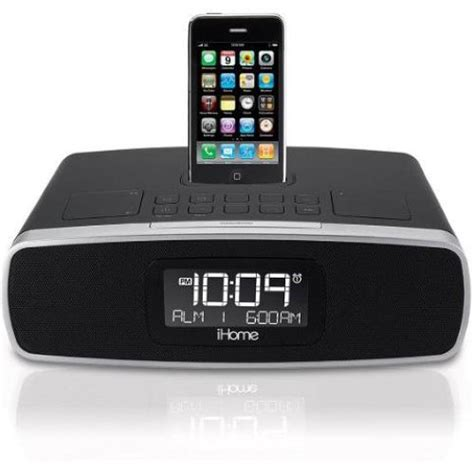 ihome ip90bz audio station iphone ipod alarm clock player w remote
