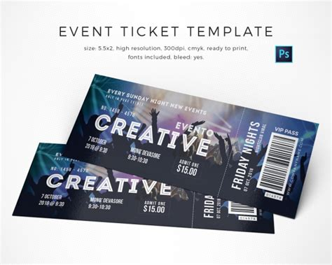 design event tickets online free 13 event ticket templates free premium templates
