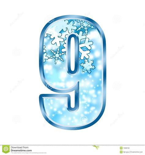 Letter Number 9 Winter Alphabet Number 9 Nine Stock Photo Image 7038150