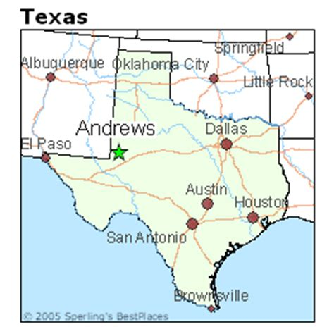 andrew texas map best places to live in texas