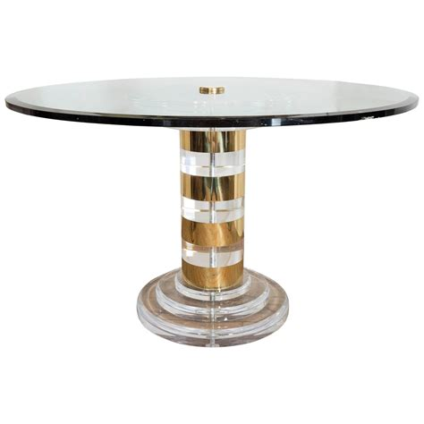 lucite dining tables in lucite and brass dining table at 1stdibs