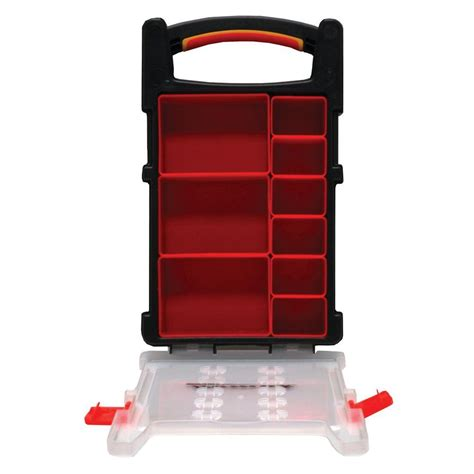 home organizer homak 9 compartment non stackable storage small parts