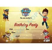PAW PATROL Dogs Kids Children Birthday Party INVITATIONS