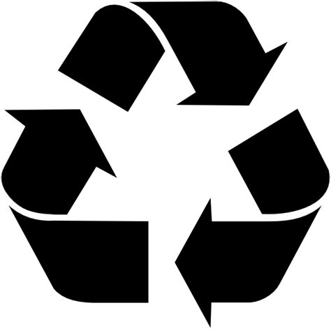 Black Recycle Symbol Clip Art at Clker.com   vector clip
