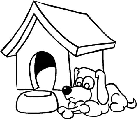 dog house outline doghouse outline clipart best