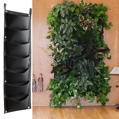 Wall Flower Planters by 7 4 Pockets Black Hanging Vertical Wall Garden Planter