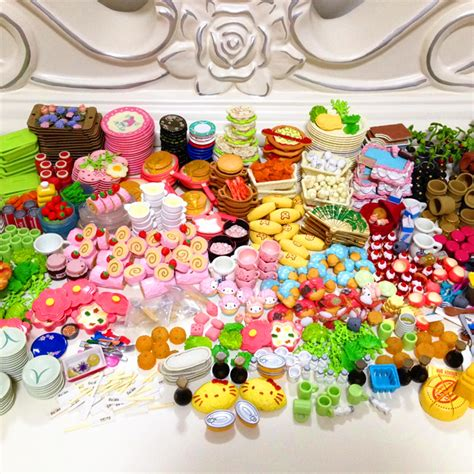 doll house food 36pcs re ment mini food tableware set dollhouse miniatures