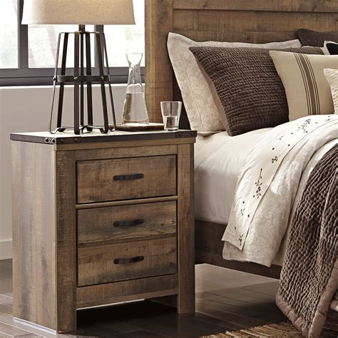nightstand ls with usb trinell nightstand bernie phyl s furniture by
