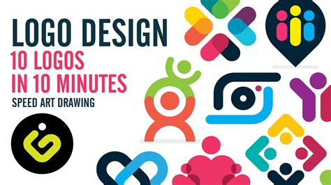 design logo easy logo design 10 simple logos in 10 minutes youtube