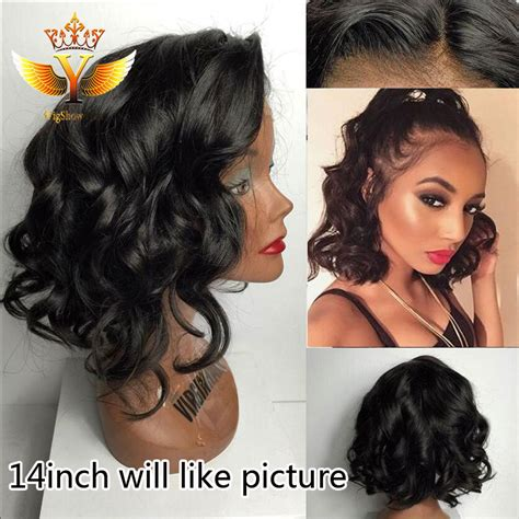 short hairstyles using body wave human hair sexy body wave lace front wig cheap brazilian virgin human