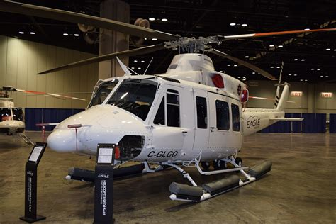 Heli Bell 412 Ep helicopter photos from heli expo 2015 rugged airborne systems
