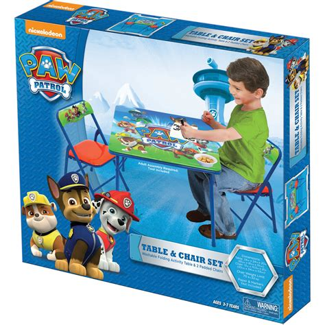 paw patrol table set paw patrol folding table and chairs set gamesplus