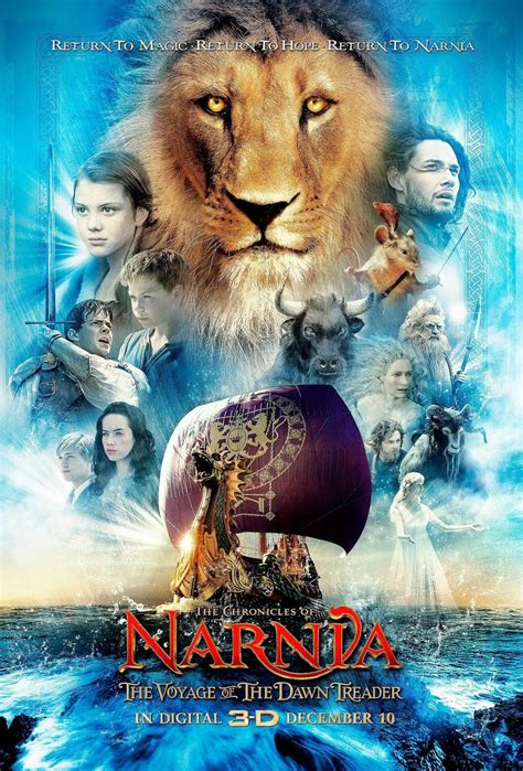download film narnia voyage dawn treader 4 magical new posters for narnia the voyage of the dawn