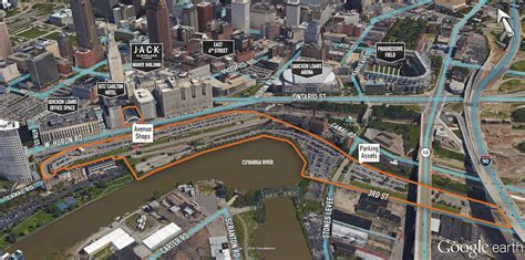 downtown cleveland map dan gilbert buys the avenue shopping mall at tower city in