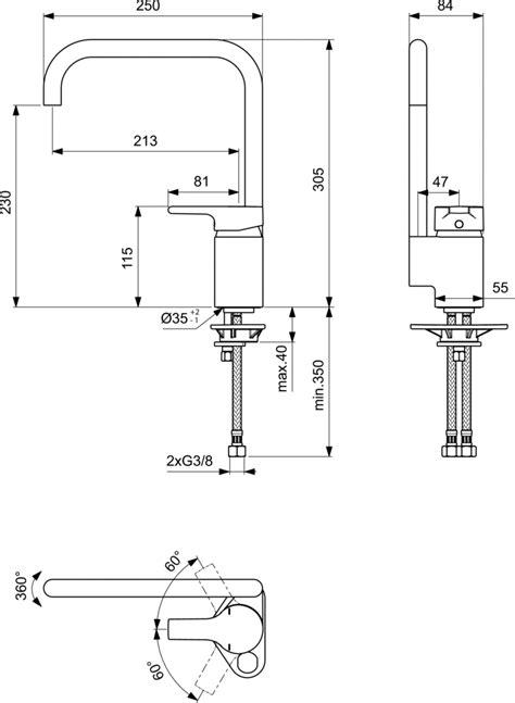 Kitchen Mixer Dwg Product Details B8084 Single Lever Kitchen Mixer