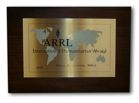 Humanitarian Award Letter Nomination Deadline For Arrl International Humanitarian Award Fast Approaching