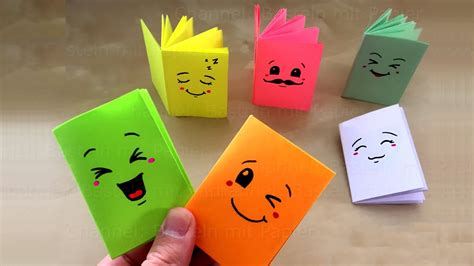 Diy Miniatur Papercraft Bunga Matahari diy mini notizbuch basteln mit papier heftchen f 252 r schule geschenk origami bastelideen
