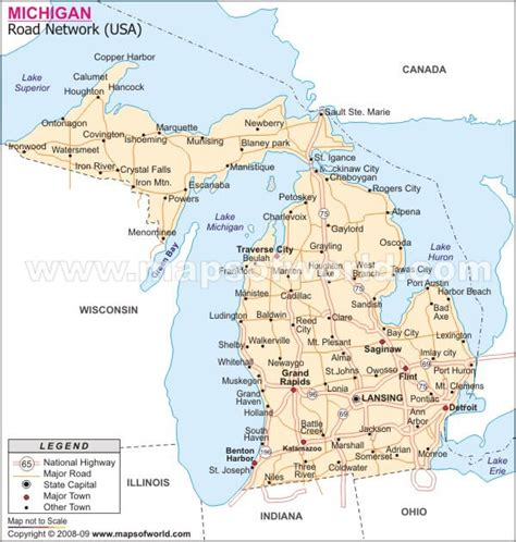 michigan map of usa michigan map