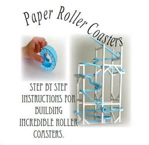 paper roller coaster templates 7 paper roller coaster templates free word pdf