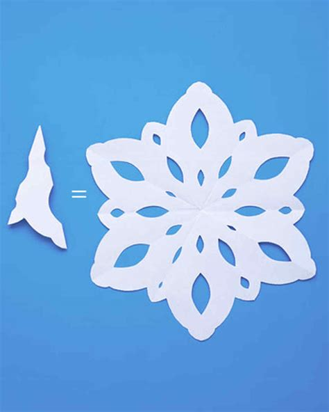 Paper Snowflake Craft - how to make paper snowflakes martha stewart