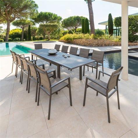 tavolo 12 persone tavolo da giardino prolungabile azua alluminio marrone 8
