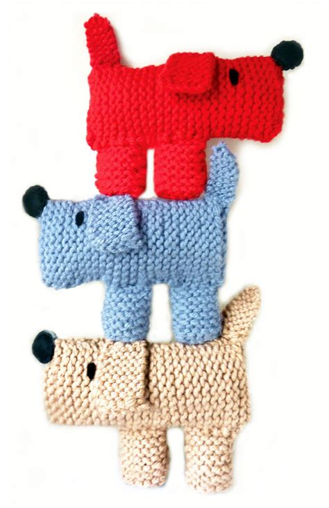 knitting patterns for puppies scruff the learn to knitting kit
