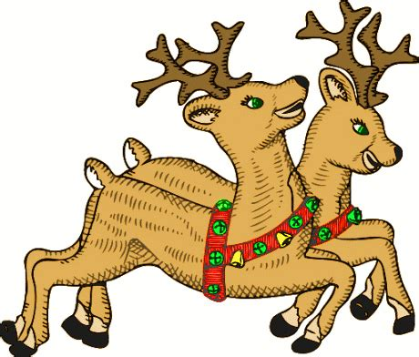 Reindeer Clipart | Clipart Panda - Free Clipart Images Free Clip Art Santa And Reindeer