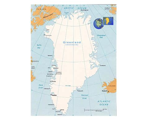 map of greenland cities maps of greenland detailed map of greenland in