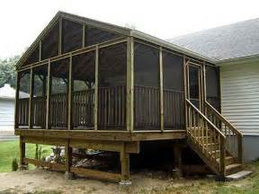 planning ideas free screened porch plans screened in
